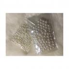 PER-BS1004 Perliukai, 4mm, 200 vnt., KREMINIAI