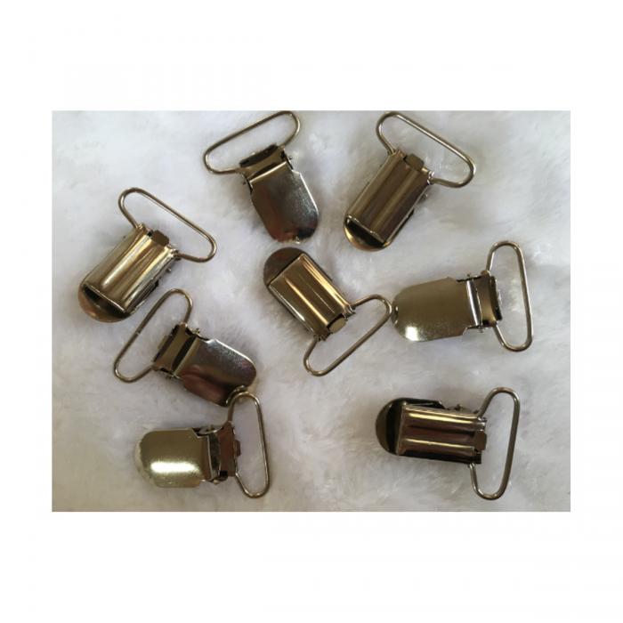 MET-35502 Metalinis laikiklis-spaustukas, žiedelio vidus apie 25mm, 1 vnt.