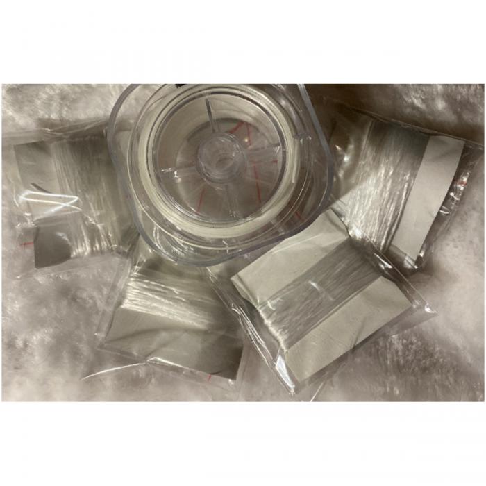 G-VP8085  Stipri gumelė veriniams, 0.8mm, skaidriai balta, 10 metrų