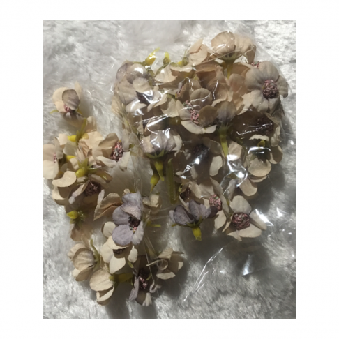 G-VT6702  Dirbtinės gėlytės, apie 2.5cm, 50 vnt., VINTAŽ  RAUSVA
