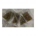KR-KA145  kristalo karoliukai, 4mm, apie 100, melsvai-rudi