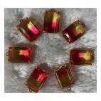 KR-D6773  Kristalo pakabukas, 18x13mm, 1 vnt, GELSVAI-ROŽINĖ