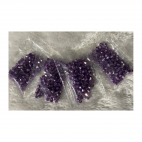 KR-VDE943  kristalo karoliukai, 4mm, apie 100, ALYVINIAI