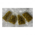KR-VDE944  kristalo karoliukai, 4mm, apie 100, GELTONI