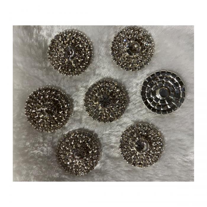 DT-KR2555 Dekoravimo detalė, su kristalo akutėm, 25mm, klijuojama