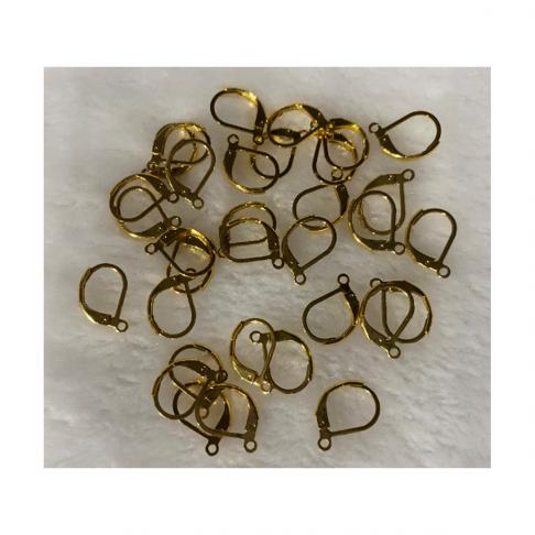 AUK-NP1115 Nerūdyjančio plieno, užsegimai auskarams, 15x11mm, aukso sp., už porą