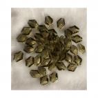 ST-KR40000  Karoliukas, 14x12mm, stiklinis-kristalo, PILKAS