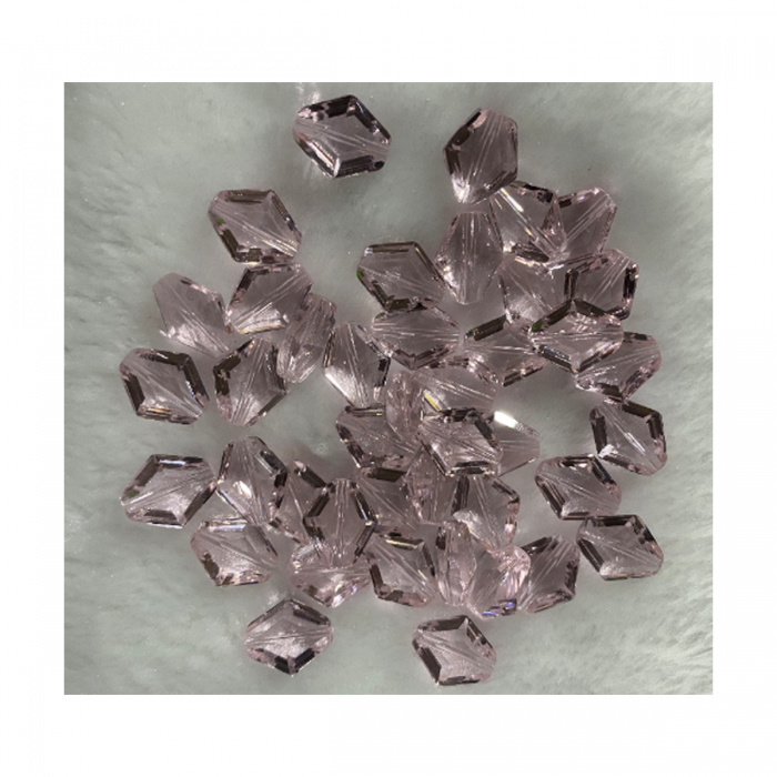 ST-KR30000  Karoliukas, 14x12mm, stiklinis-kristalo, Šv., ROŽINIS