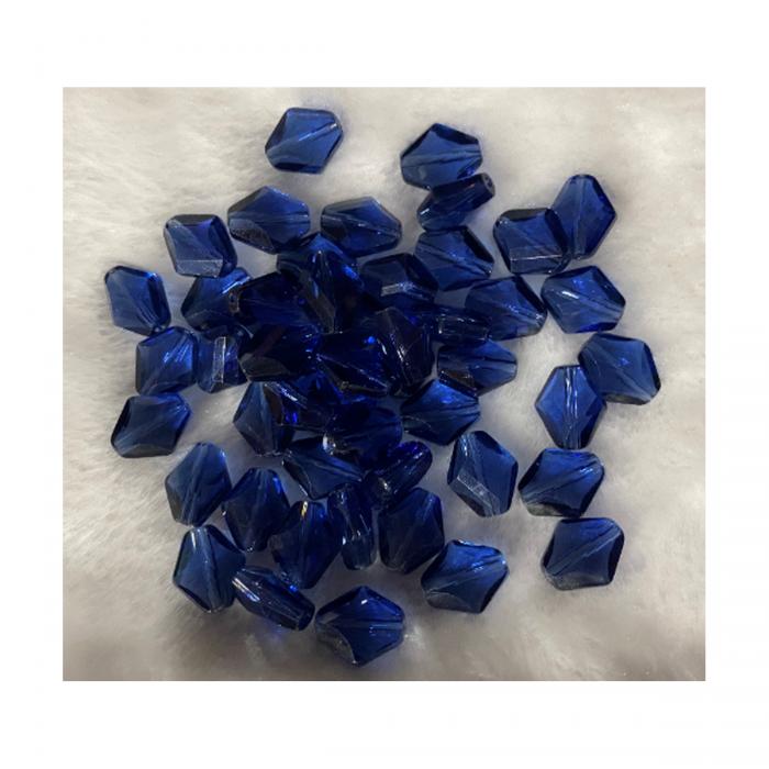 ST-KR20000  Karoliukas, 14x12mm, stiklinis-kristalo, MĖLYNAS