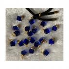 AUK-KR3254 Kristalo pakabukas, apie 12mm, spalva MĖLYNA