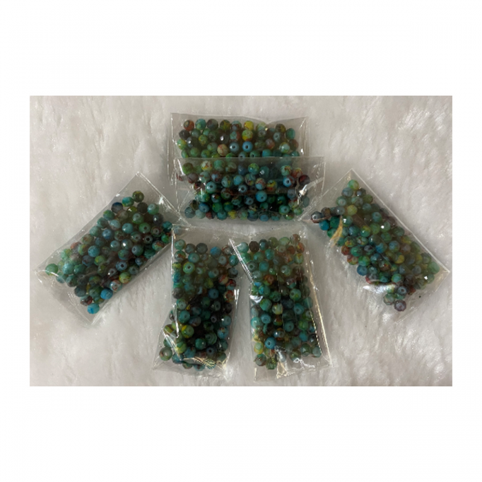KR-RD441  Kristalo karoliukai, 4mm, 100vnt., ŽALIAI MARGI