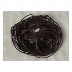 OD-VE2103  Odinė virvutė, apie 2mm, tamsiai ruda, už 5 metrus.