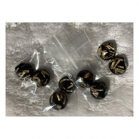 KAB-39202  kabošonai, akriliniai, juodi su šiaudeliais, už 2vnt.