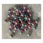 PER-A10222  Perliukas, akrilinis, 12mm, RAUSVAI - MELSVAS