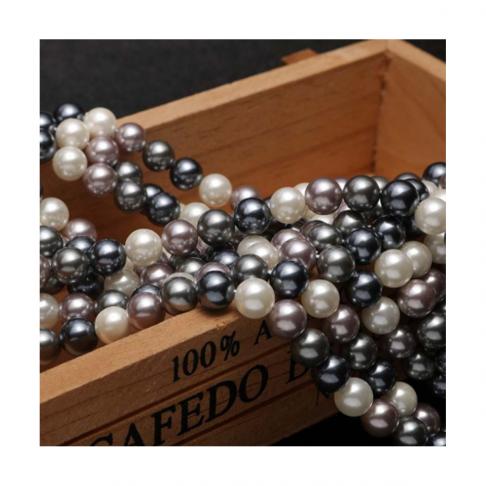 PER-KR912 Perliukų gija, kriauklės, 10mm, apie 40 vnt., MIX