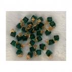 AUK-KR3264 Kristalo pakabukas, apie 12mm, 1 vnt., spalva ŽALIA