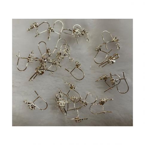 SID-AS1019  Kabliukai auskarams, nedideli, 15x8mm, už porą