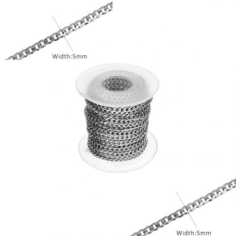 7-NP9624 Nerūdyjančio plieno grandinėlė, 5mm, kaina už 50cm