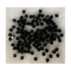 KR-AAA502  Stiklo-kristalo karoliukas, bicone, 6mm, 1vnt., JUODAS