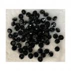 KR-AAA504  Stiklo-kristalo karoliukas, rondele, 8x6mm, 1vnt., JUODAS