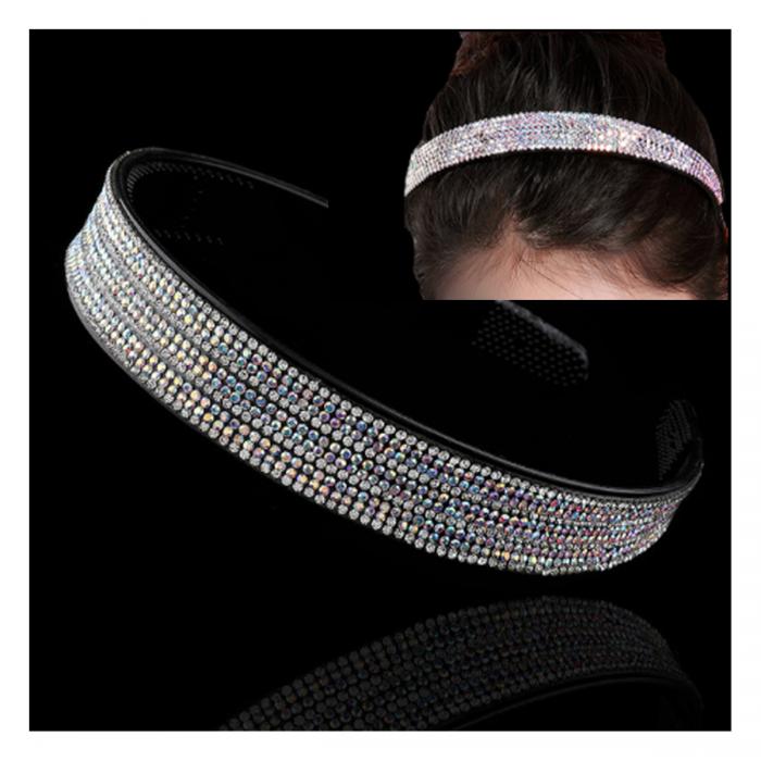 LAN-K07 Lankelis plaukams, su kristalo akutėmis, apie 20mm, AB spalva.