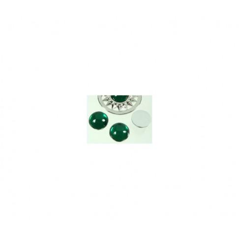 Kabašonas-5489 Akrilinis, Žalias, 12mm