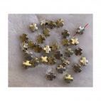 "SID-KRS424  metalinis karoliukas ""Kryželis"", 10mm, 1vnt."