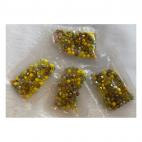 KR-MIX-03  Kristalo karoliukų MIX (nuotraukoje), bicone, 4mm, 100 vnt. GELSVI MIX