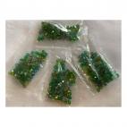 KR-MIX-04  Kristalo karoliukų MIX (nuotraukoje), bicone, 4mm, 100 vnt. ŽALI MIX