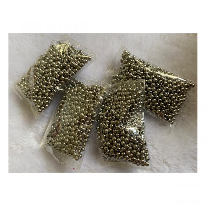 7-MT3452  Metalizuoti karoliukai, (CCB) 3mm,  500vnt.