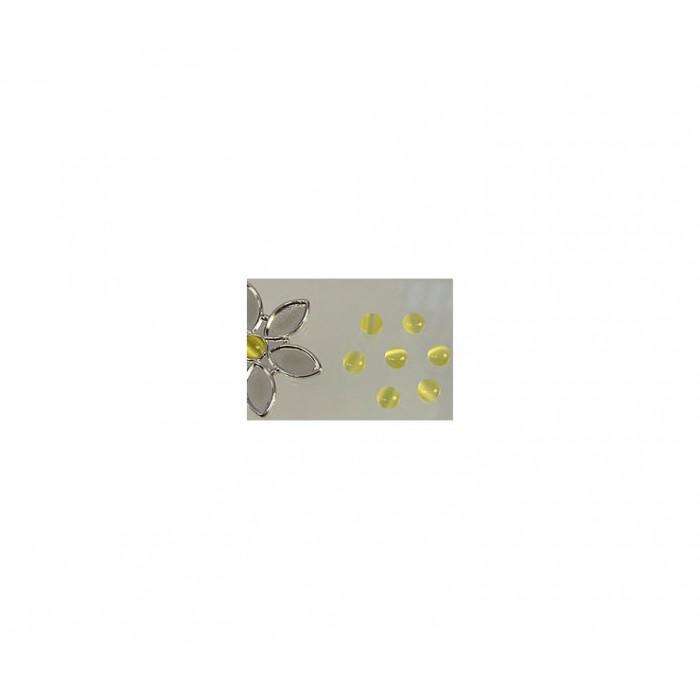 KABAS-5084 Katės akis, 6mm, geltonos sp.