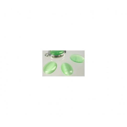 KABAS-4679 Katės akis, 18x13mm, žalsvas