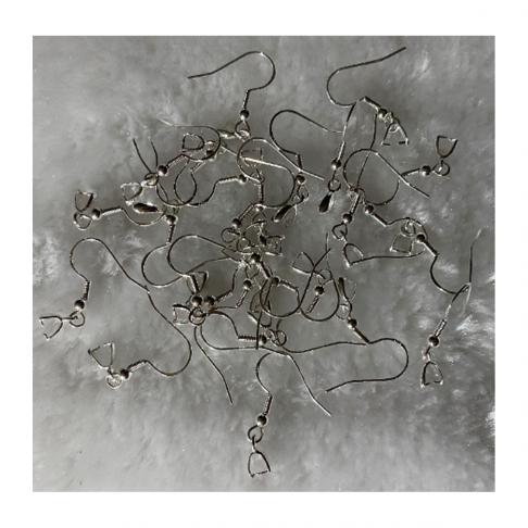 SID-92502 Sidabruoti kabliukai auskarams, už porą