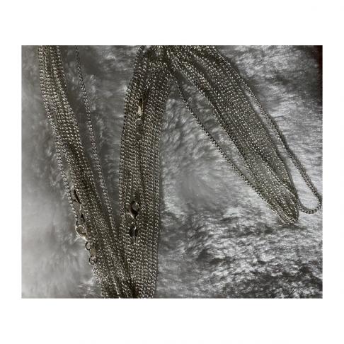 SID-92504 Grandinėlė, sidabruota, apie 65 cm