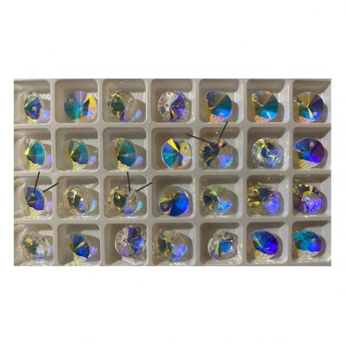 "KR-A2773 Kristalo pakabukas-karoliukas ""Rivoli"", 12mm, SKAIDRI AB , 1vnt.,"
