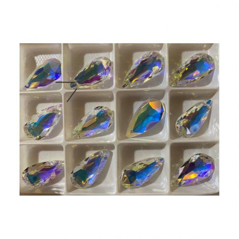"KR-A2774  Kristalo pakabukas-karoliukas ""Lašelis"", 12x24mm, SKAIDRI AB , 1vnt."