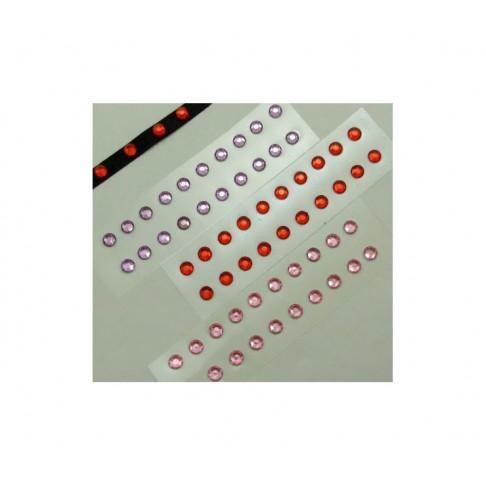 AKUT-8552 Stiklinės, 5mm, lipdukinės, RAUDONA sp., kaina už 10