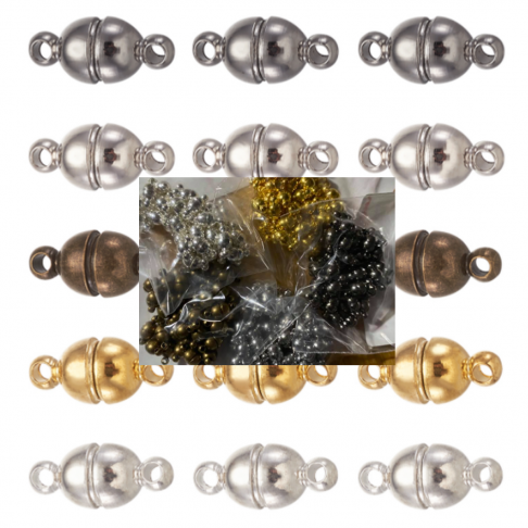 SID-UZ5112  Magnetinis užsegimas, apie 5x11mm, sidabro sp., 1vnt.