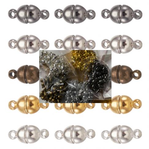 JUOD-UZ5114  magnetinis užsegimas, apie 5x11mm, juodintos sp., 1vnt.