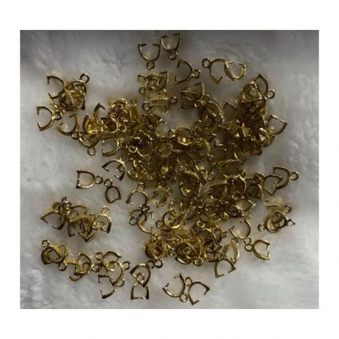 AUK-80706  Laikiklis pakabukams, neryškaus  aukso sp., 1vnt.