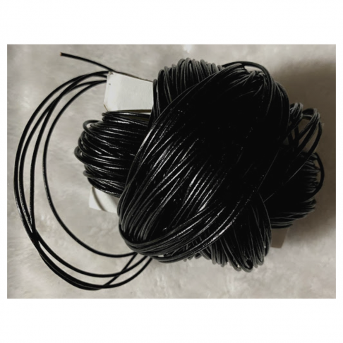 OD-VE1171  Nat., odos virvutė, 1.5mm, JUODA, už 10 metrų.