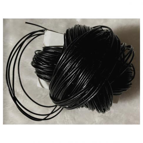 OD-VE1172  Nat., odos virvutė, 1.5mm, JUODA, už 1 beginį  metrą.
