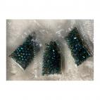 KR-KA161 kristalo karoliukai, 4mm, apie 100, ŽALSVI AB