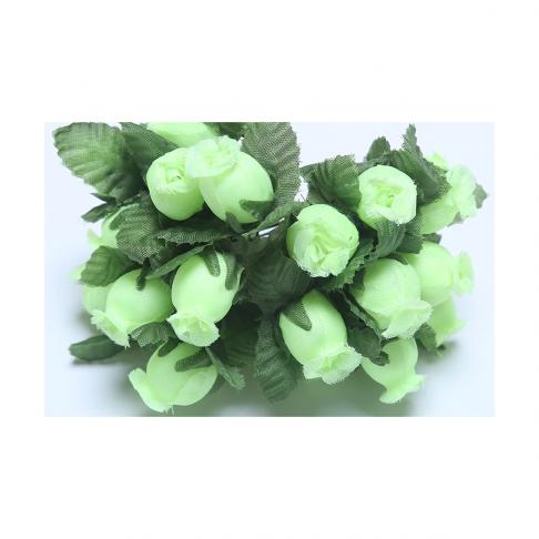 G-R408  Mini rožytės, 12vnt., ŽALSVOS
