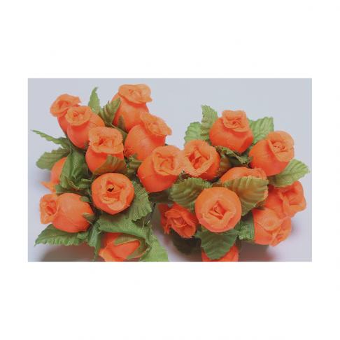 G-R407  Mini rožytės, 12vnt., ORANŽINĖS