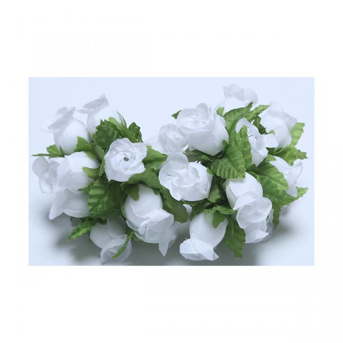 G-R406  Mini rožytės, 12vnt., BALTOS