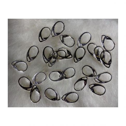 SID-999 Sidabruoti kabliukai auskarams, anglišku užsegimu, už porą, 19x12mm.