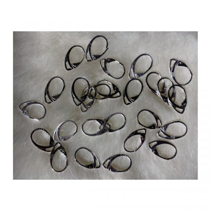 SID-999 Sidabruoti kabliukai auskarams, anglišku užsegimu, už porą