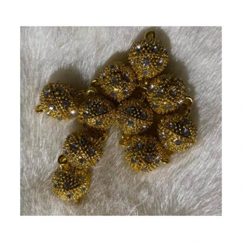 AUK-07040  Magnetinis užsegimas,  su kristalo akutėm, 14x19mm, 1 vnt.