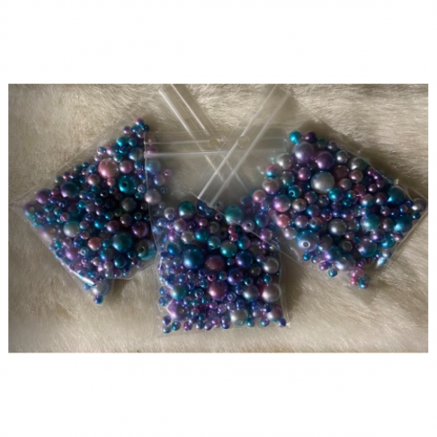 KAR-MIX1016  Karoliukai, perliukai, MIX, 3-6-8-10mm, 15 gramų, MARGI